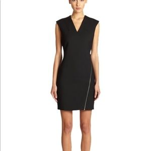 Helmut Lang black Moto stretch dress w/zipper SzS